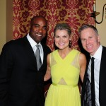 Carlos Delgado with Christine Simpson and Gerry Dee